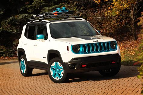 white and teal jeep 2014 jeep renegade frostbite pictures news research