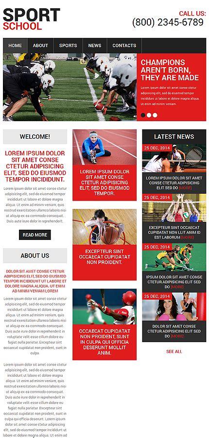 Sport Website Template 48556 Templates Com Best Sports Website Templates