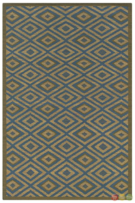 geometric blue rug rizzy rugs blue geometric woven dhurrie area rug swing sg0452