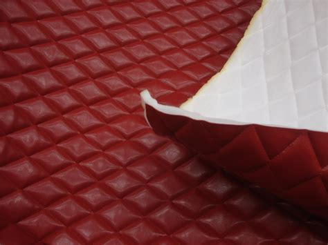 Quilted Leather Fabric by Foam Faux Leather Quilted Vinyl Fabric With 3 8 Foam