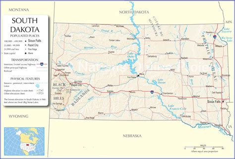 map of sd road map of wyoming and south dakota