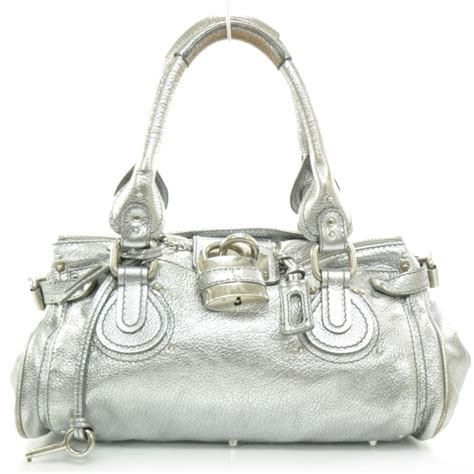 Still The Paddingtons In Silver Metallic by Leather Paddington Satchel Metallic Silver