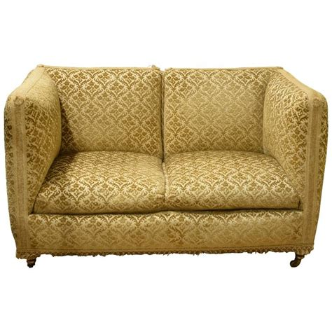 knole settee for sale small knole style two seat settee for sale at 1stdibs