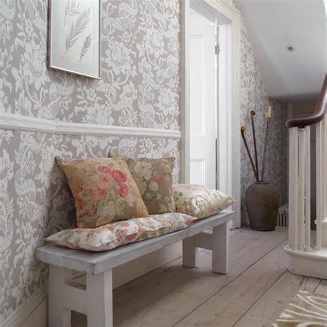 classic wallpaper for hallways new home interior design country hallway