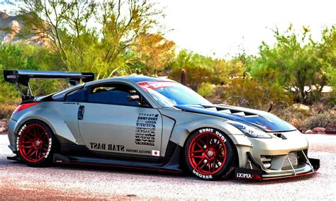 modified tuner cars widebody nissan 350z stance wheels car such z