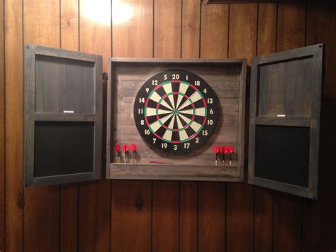 Dart Board Cabinet by White Dartboard Cabinet Diy Projects