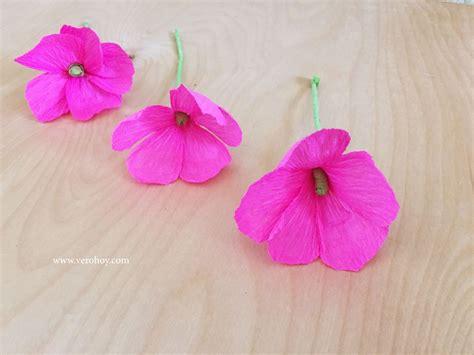 como hacer flores de papel crepe faciles y bonitas youtube como hacer flores con papel crep 233 f 225 cil y r 225 pido vero hoy