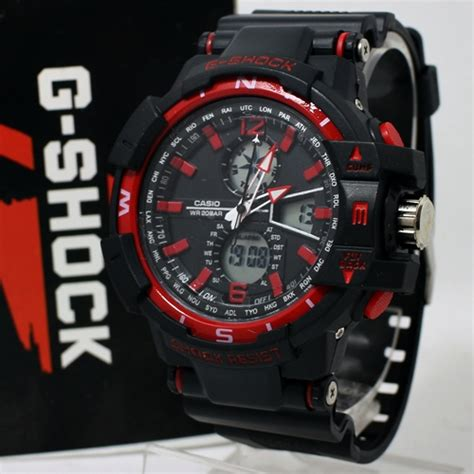 Jam Tangan Kw Gshock Black New Jam Tangan G Shock Gwa 1100 New Model Black Kucikuci