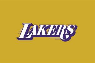 lakers colors michael weinstein nba logo redesigns los angeles lakers