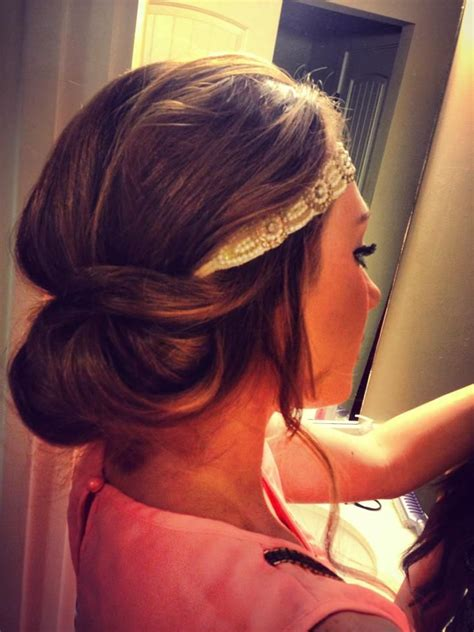 Tuck In Hairstyles | tuck the hair into the headband and voila hair heaven
