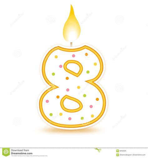 imagenes de cumpleaños numero 23 vela del cumplea 241 os 8 ilustraci 243 n del vector imagen de