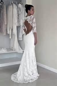 keyhole back wedding dress in corded french lace illusion neckline lace dress 2226705 weddbook