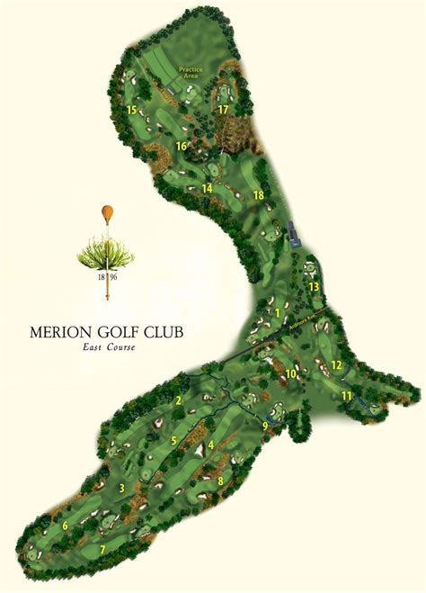 map us open golf merion map with labels to us open golf world maps