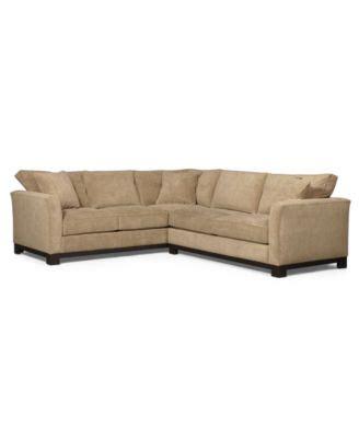 Sectional Sofa Macys Fabric 2 Sectional Sofa Furniture Macy S