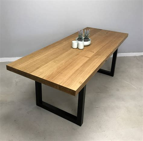 oak wood dining table block solid oak dining table by revive joinery