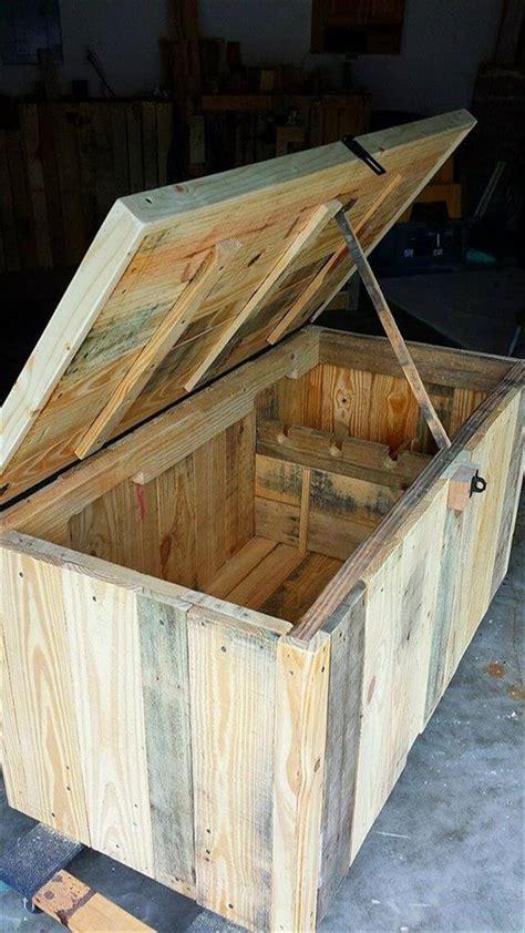 diy pallet storage trunk kids toy chest