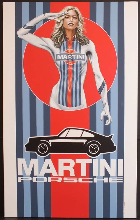 martini racing driver martini racing canvas acrylic painting