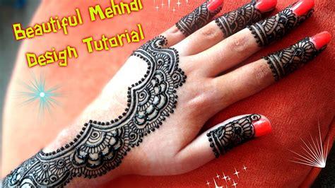 apply easy simple latest henna mehndi designs  hands  eiddiwaliweddings tutorial