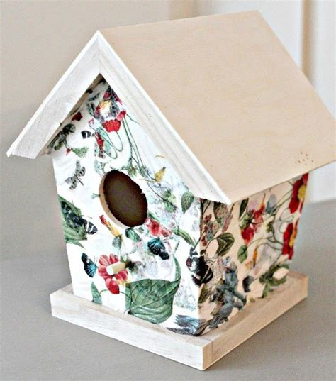 Crafts Decoupage - napkin decoupage birdhouses chalk paint crafts decoupage
