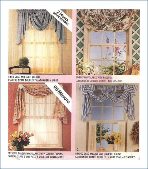 sewing pattern valance mccall s 681 2 hour valances swags sewing pattern uncut