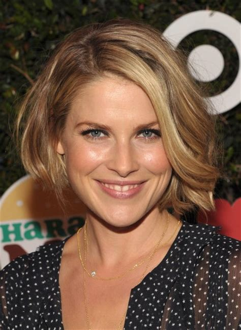 bob shorter on one side haircuts 2014 ali larter short bob hairstyle for 2014 side part