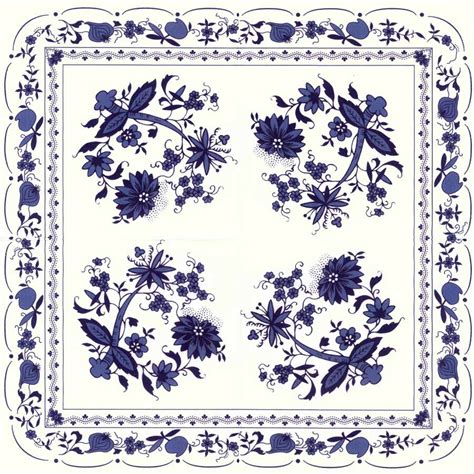Decoupage Patterns - decoupage paper napkins of zwiebelmuster blue