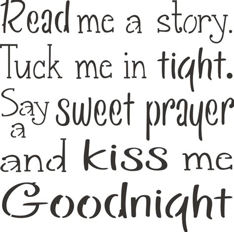 Me Me Me Signed - read me a story tuck me in tight 11 x 11 quot stencil