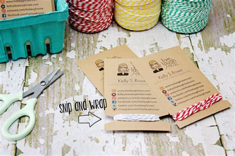 Handmade Business Cards Ideas - diy business cards crafty style live laugh rowe
