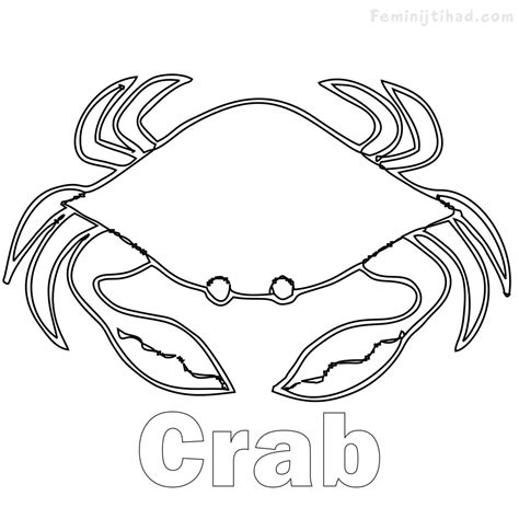 easy crab coloring page famous crab coloring pages photos exle resume ideas