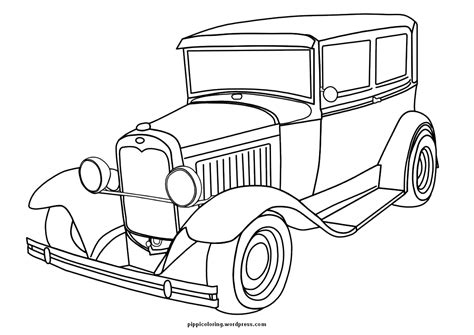 Coloring Pictures Of Vintage Cars | old cars coloring pages free large images