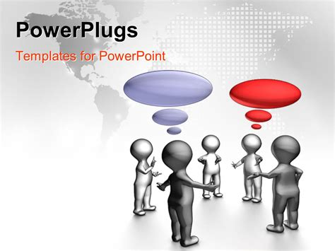 ppt templates for group discussion powerpoint template group of silver figures standing in a
