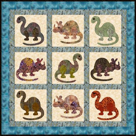 Dinosaur Quilt Patterns For Free by Free Quilt Pattern Dino Rar