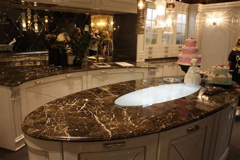 Marble Kitchen Countertops Oval : Great Idea Marble