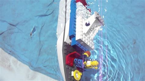 titanic boat in water sinking lego boat youtube