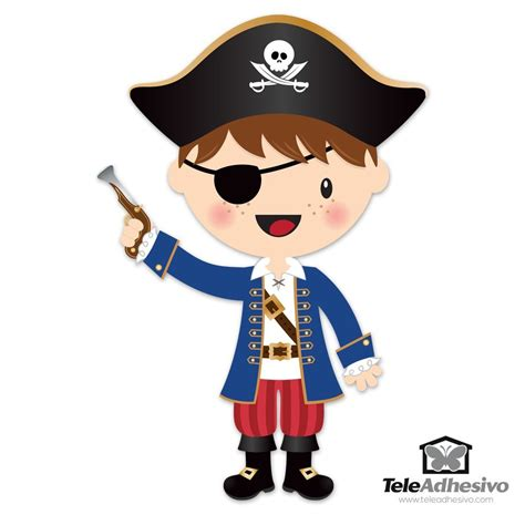 Wall Stickers Numbers stickers for kids the little pirate gun