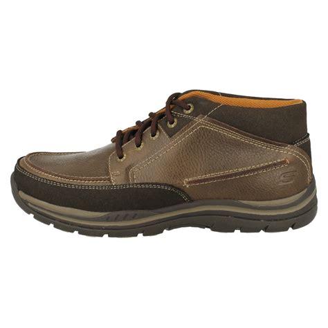 mens skechers boots mens skechers cason memory foam walking boots ebay