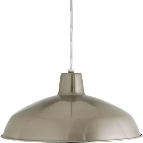 Nickel Pendant Light Progress Lighting 1 Light Brushed Nickel Pendant P5094 09 The Home Depot