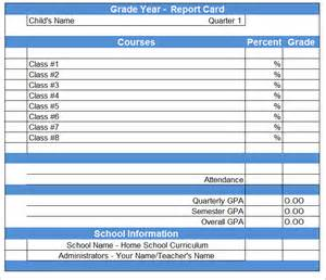 Blank Report Card Template by Report Card Template 21 Free Excel Pdf Documents