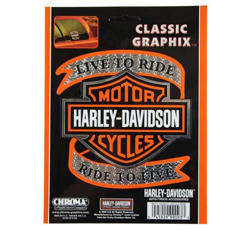 Harley Aufkleber Chrom by Biker Harley Davidson Hd Live To Ride Logo Emblem