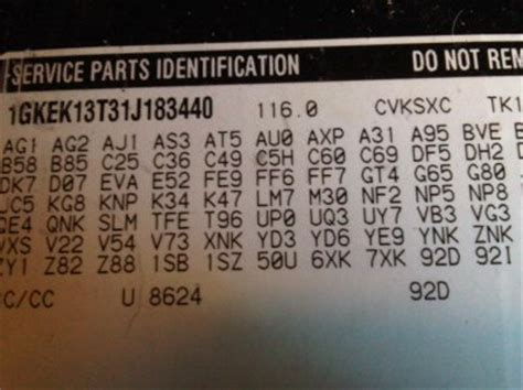 how to decifer glove box parts identification tag chevy tahoe forum gmc yukon forum tahoe