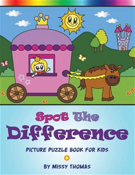 Spot The Difference Picture Puzzle Book For