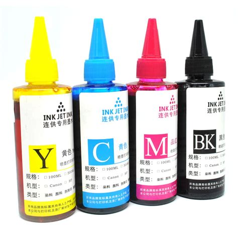 Refill Tinta Printer Ink Refill Bottle For Canon Dell Hp Printer Ink Cartridges 100ml Tinta Printer Yellow