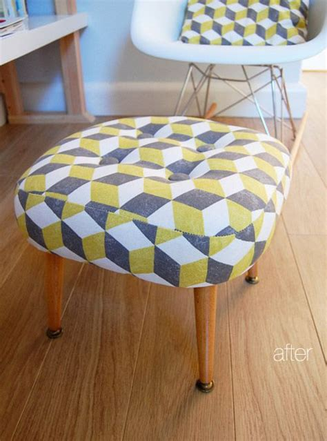 how to reupholster a pillow top ottoman furniture grey and ottomans on pinterest