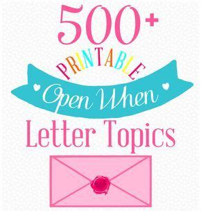 open when letter topics 120 open when letter topics squares gift and 1523