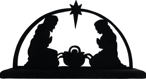 printable nativity scene silhouette manger images cliparts co