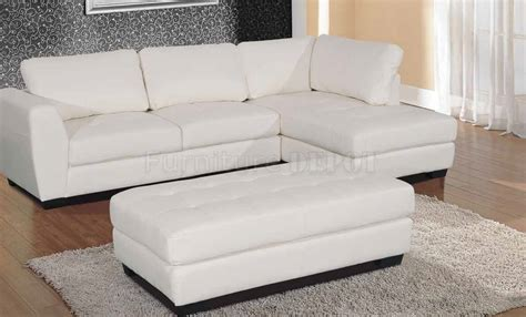 Small White Leather Sectional Sofa Small White Leather