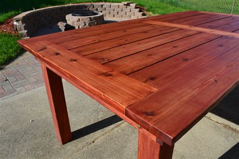 Patio Table Plans Diy White Beautiful Cedar Patio Table Diy Projects