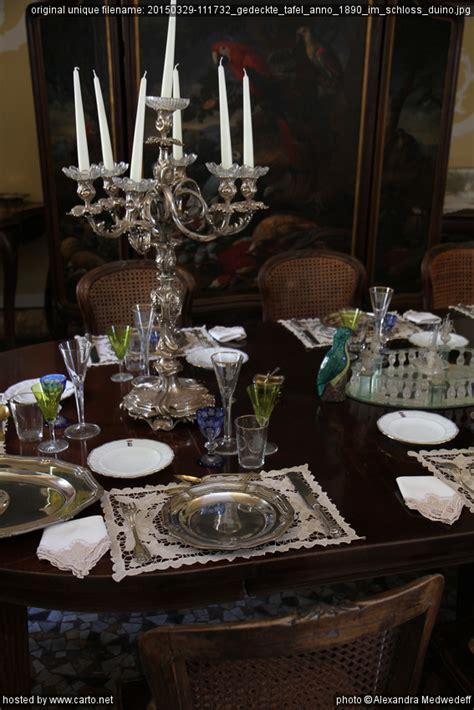 gedeckte tafel gedeckte tafel anno 1890 im schloss duino sentiero rilke