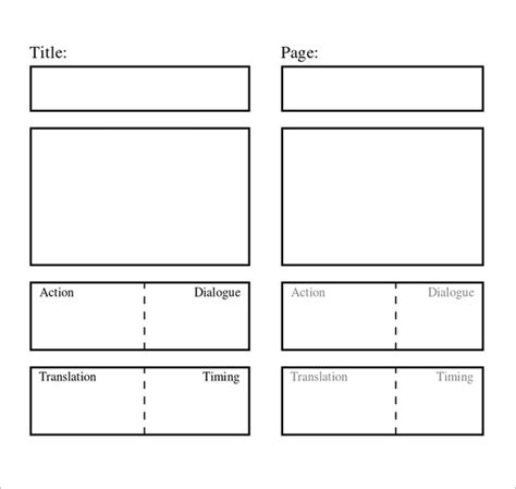 storyboard template word storyboard template 77 free word pdf ppt psd format