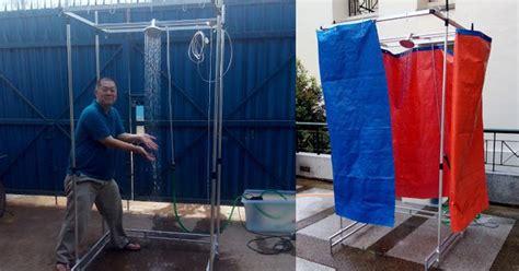 builds mobile shower for homeless living on the